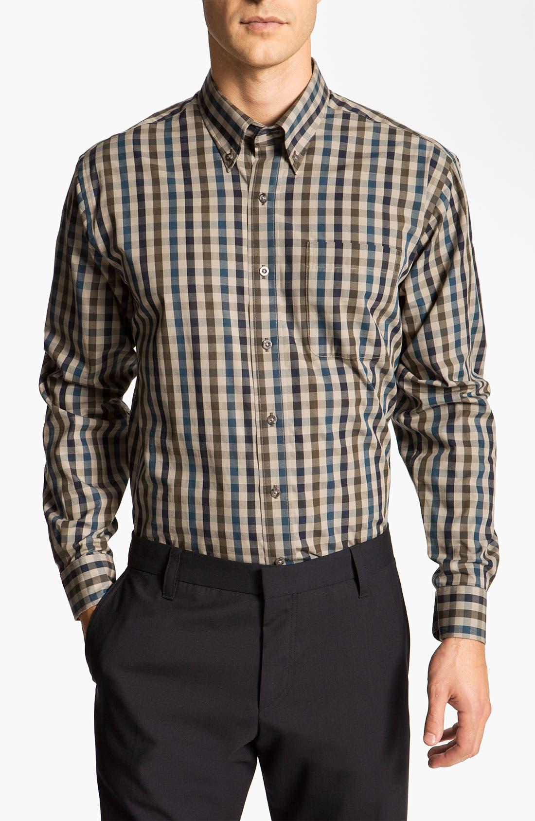 Alternate Image 1 Selected - Cutter & Buck 'Golden Horn' Check Sport Shirt