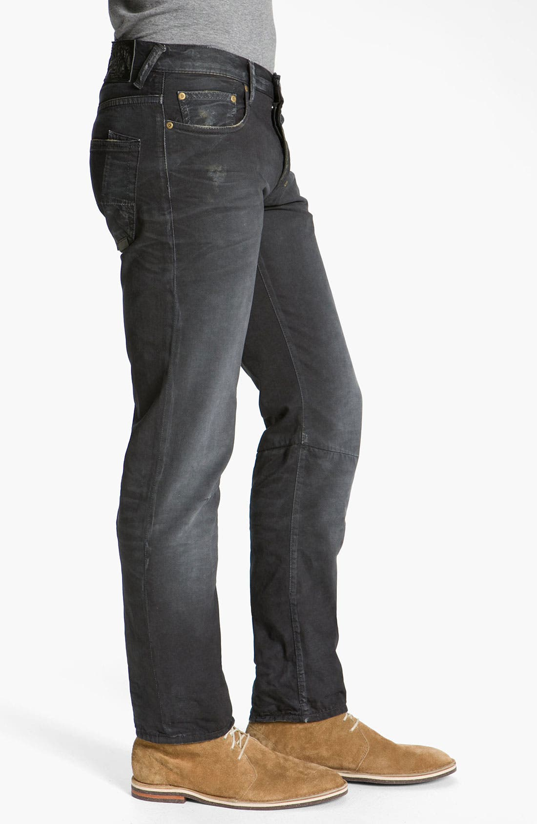 Alternate Image 3  - PRPS 'Rambler' Slim Straight Leg Jeans (Black)