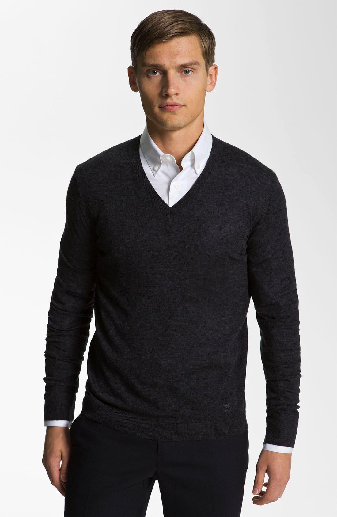 Alternate Image 1 Selected - Pringle of Scotland V-Neck Merino Wool Sweater