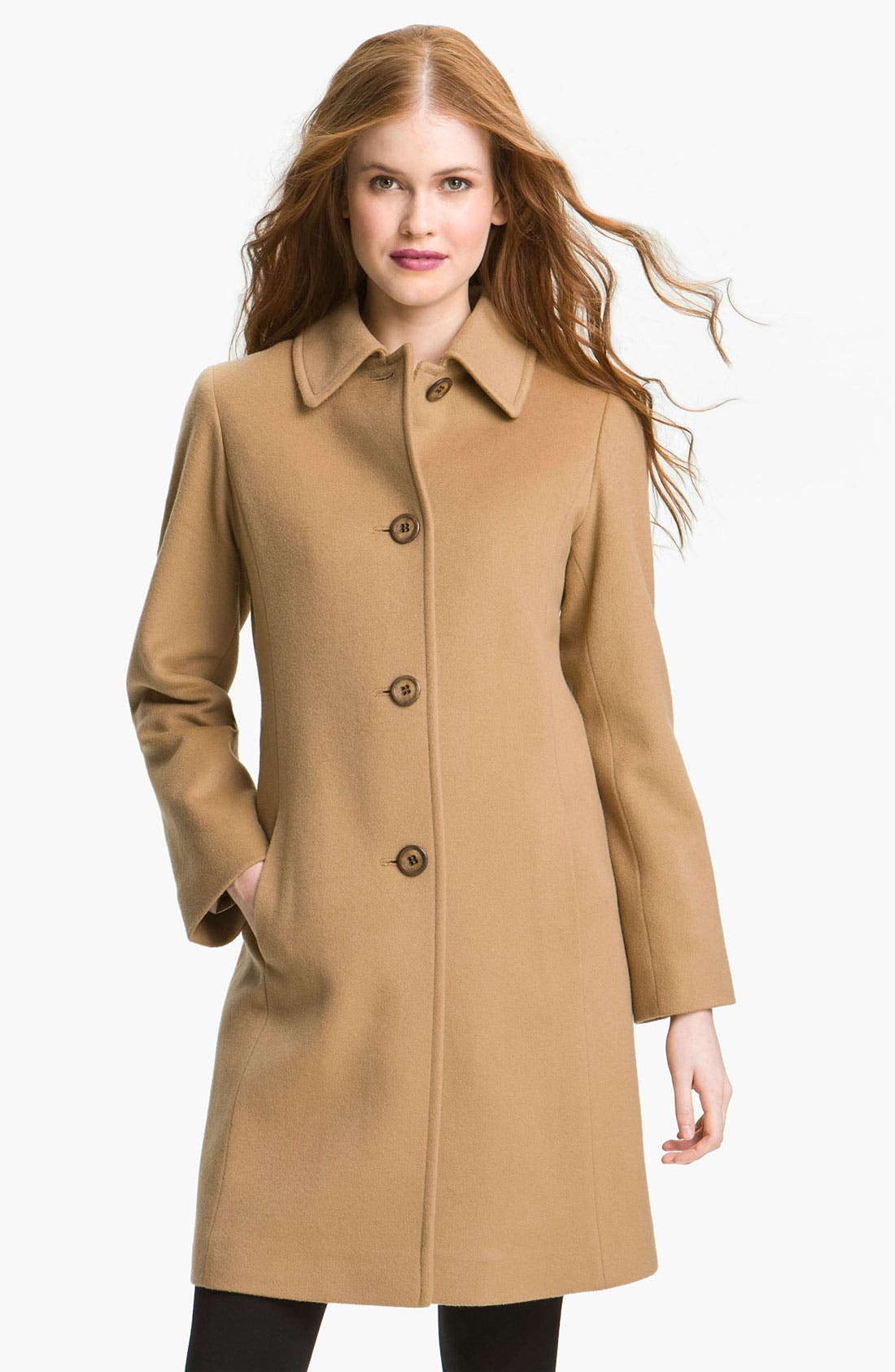 Main Image - Fleurette Cashmere & Wool Car Coat