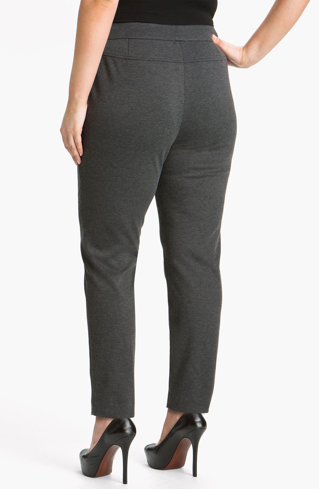Alternate Image 2  - Sejour Double Zip Pocket Ponte Pants (Plus)
