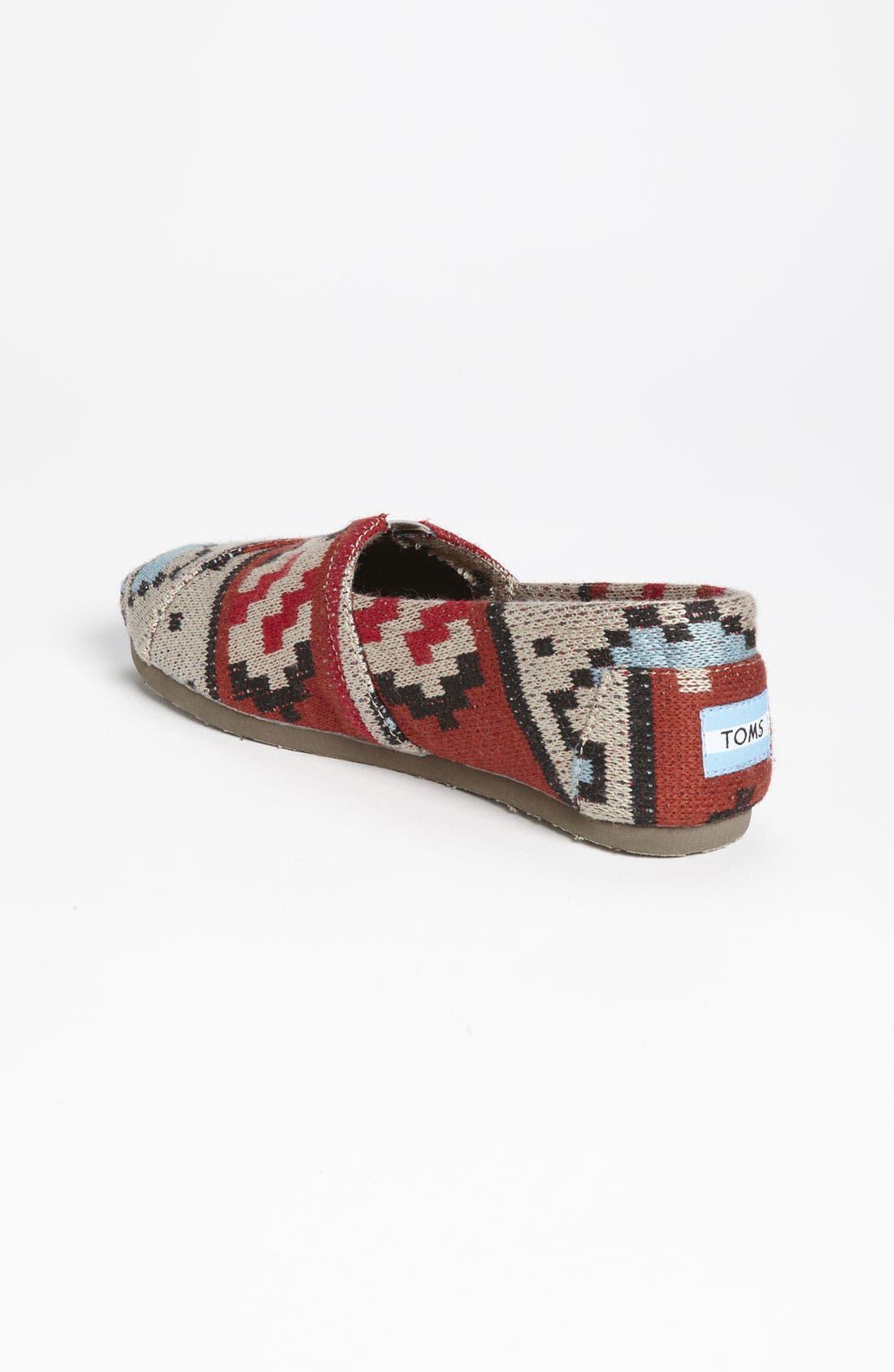 Alternate Image 2  - TOMS 'Classic - Tribal' Knit Slip-On (Women)