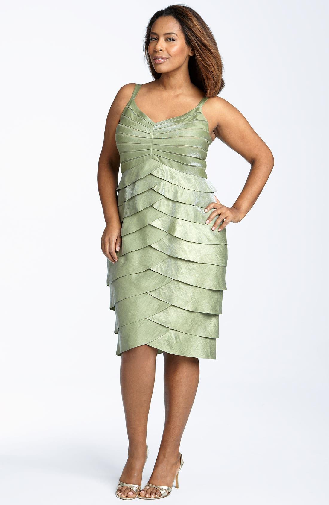Alternate Image 3  - Adrianna Papell Evening Shutter Pleat Dress with Bolero Jacket (Plus)