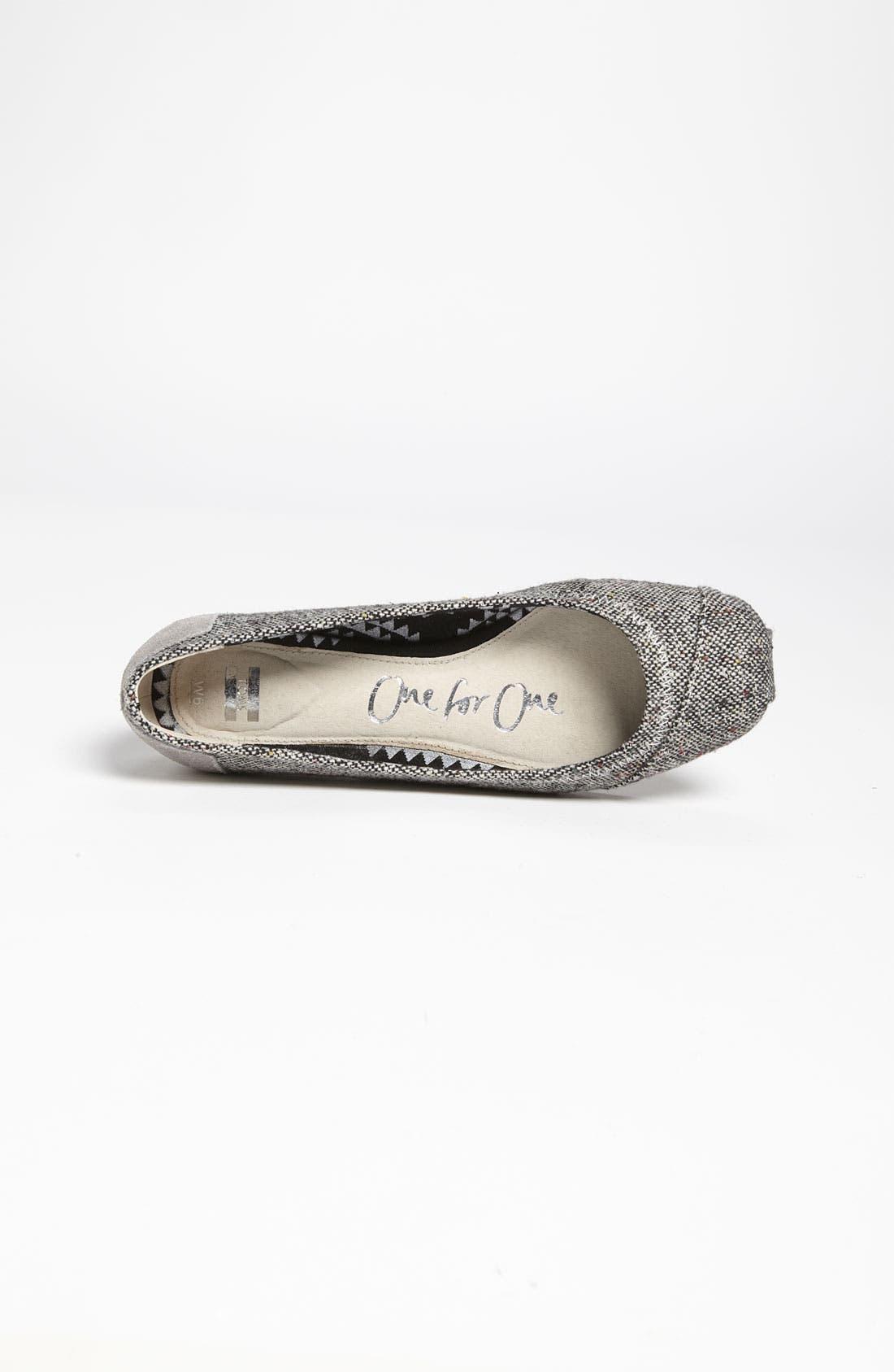 Alternate Image 3  - TOMS 'Tweed Lurex®' Ballet Flat