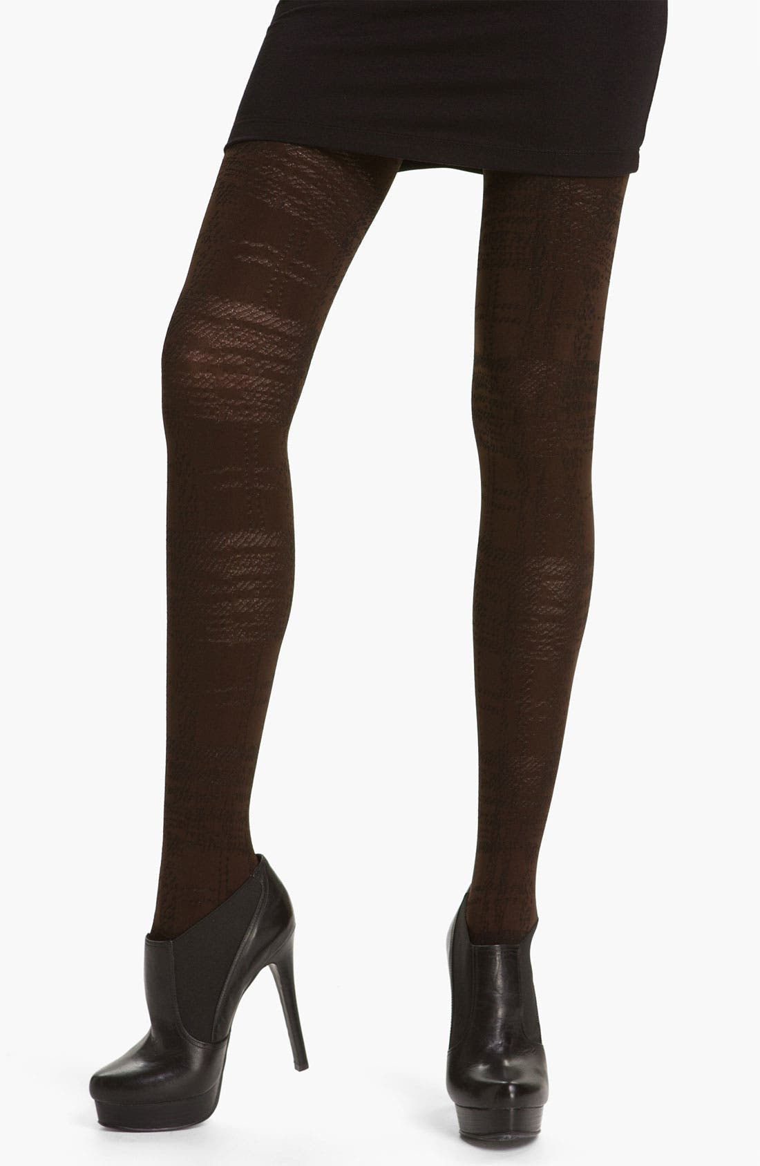 Alternate Image 1 Selected - DKNY Bold Plaid Tights