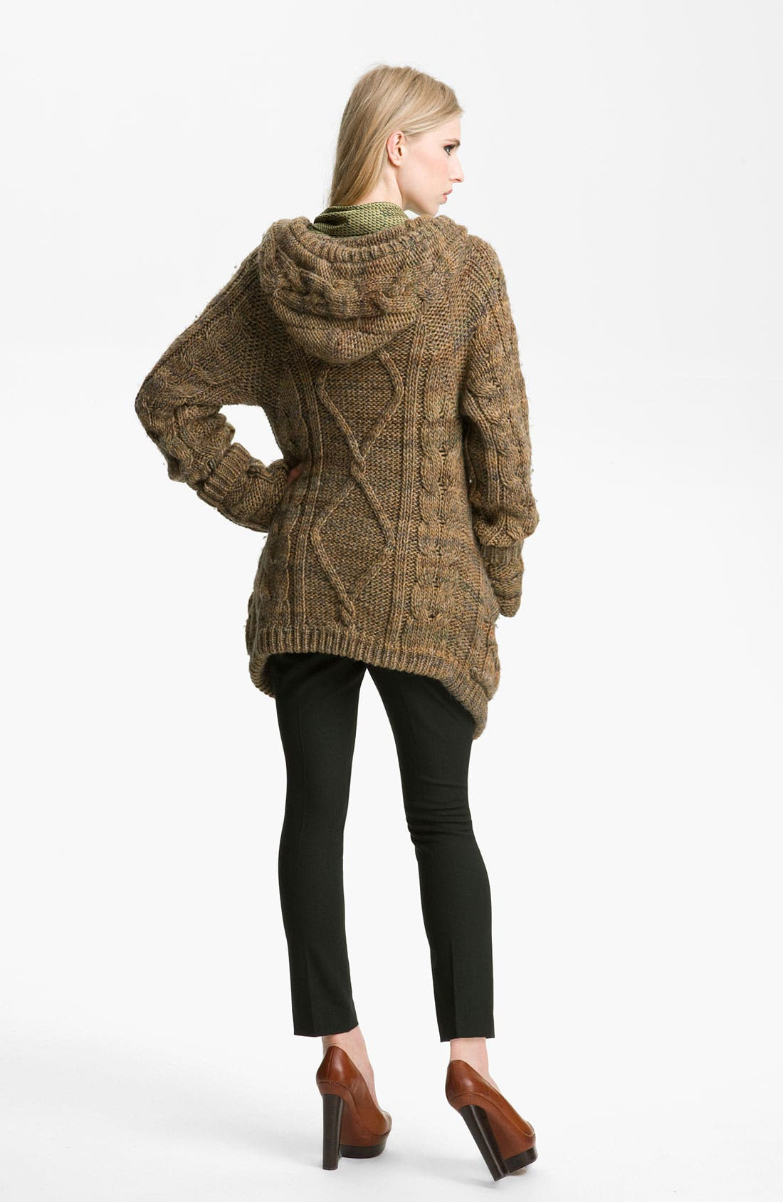 Alternate Image 2  - Rachel Zoe 'Beha' Hooded Cable Sweater