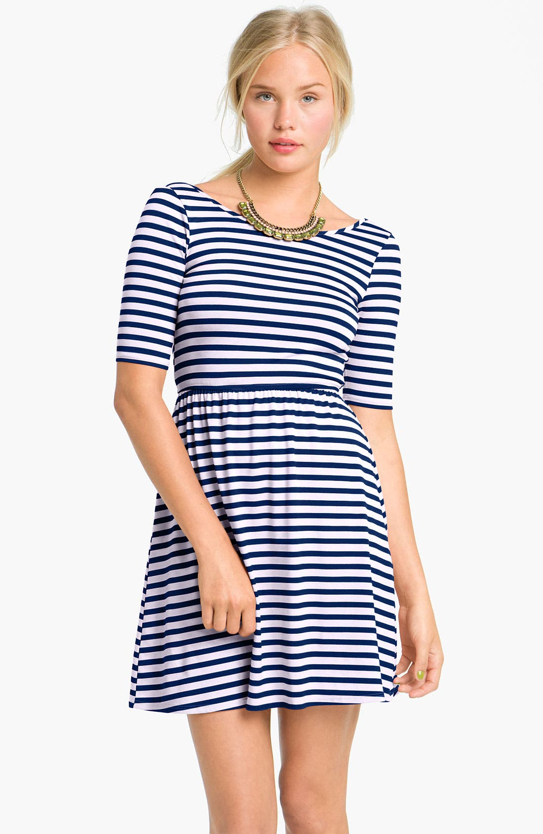Alternate Image 1 Selected - dee elle Stripe Dress (Juniors)
