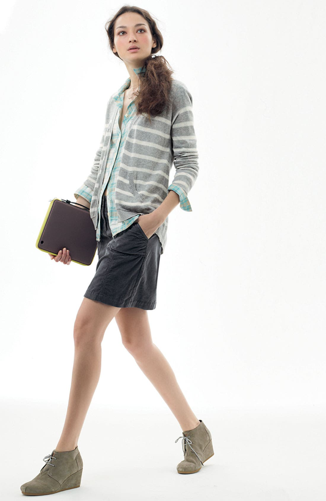 Alternate Image 2  - Caslon® Corduroy Skirt