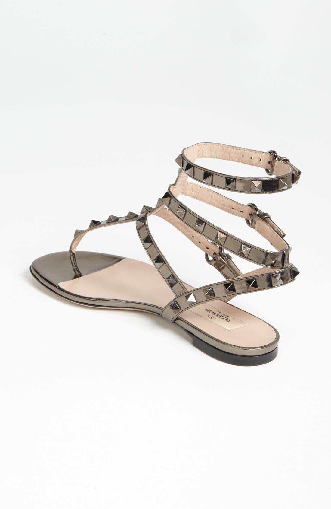 Alternate Image 2  - Valentino 'Rockstud' Flat Sandal