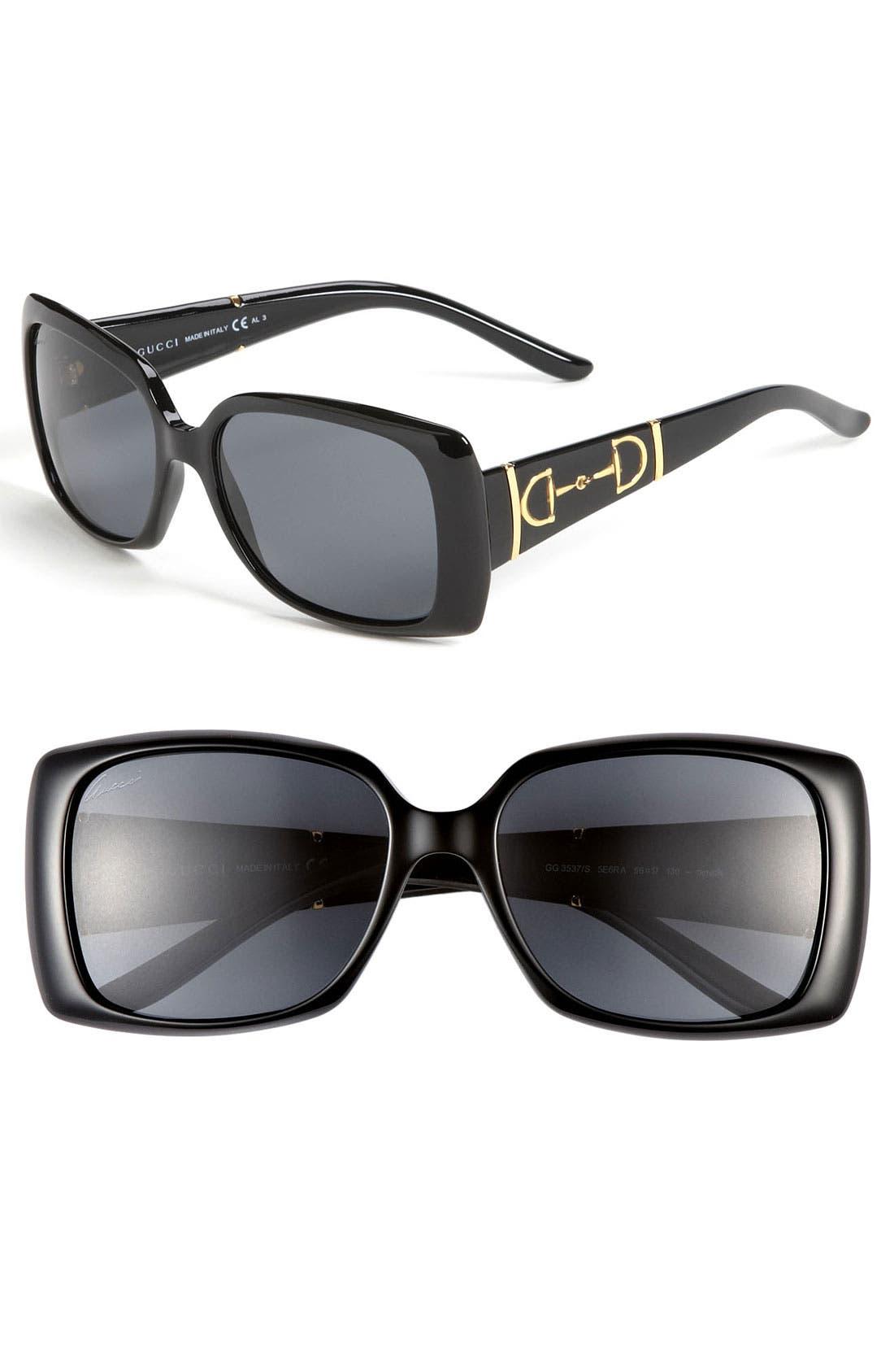 Alternate Image 1 Selected - Gucci Polarized Sunglasses
