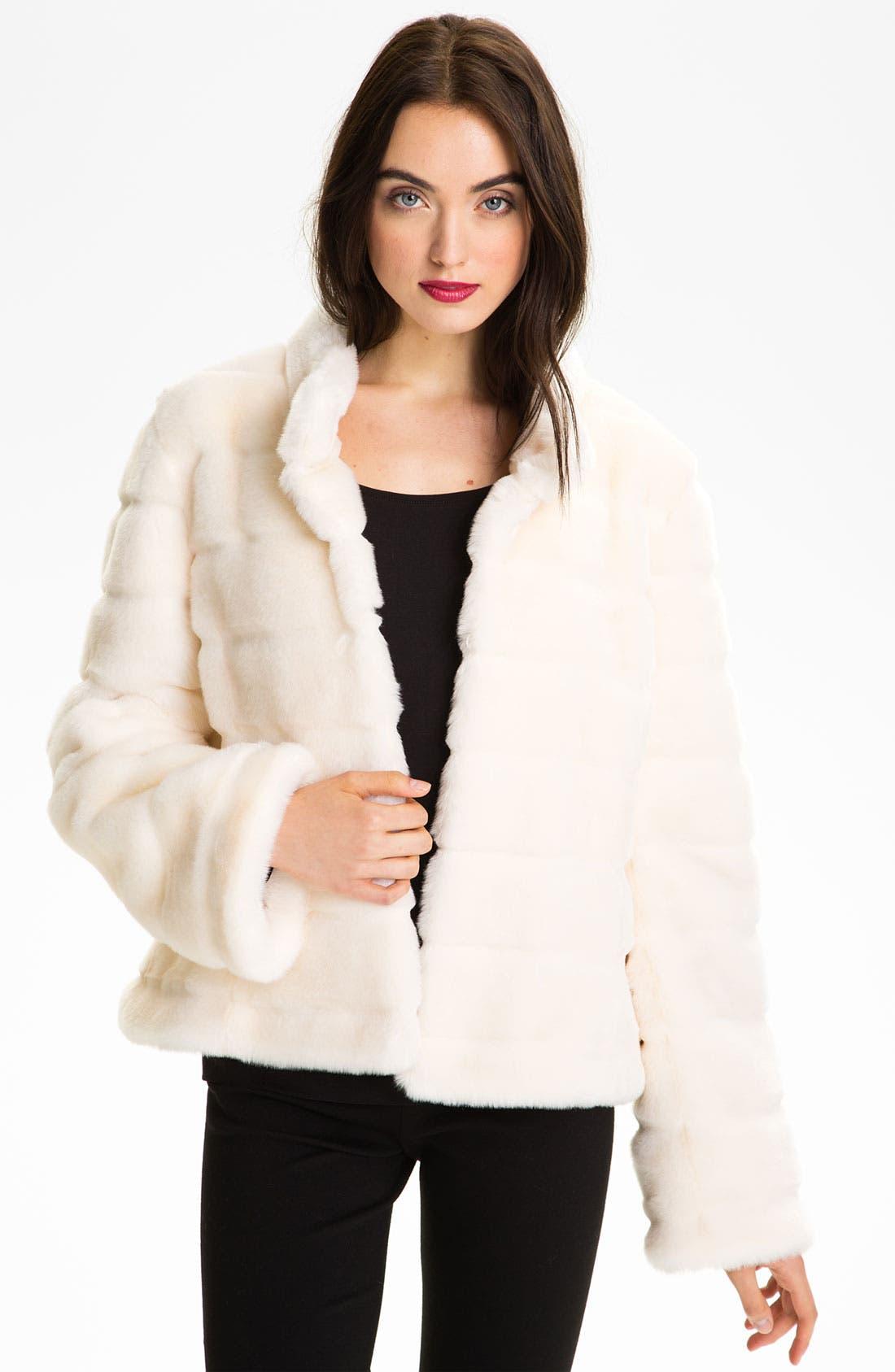 Alternate Image 1  - Kristen Blake Faux Fur Jacket