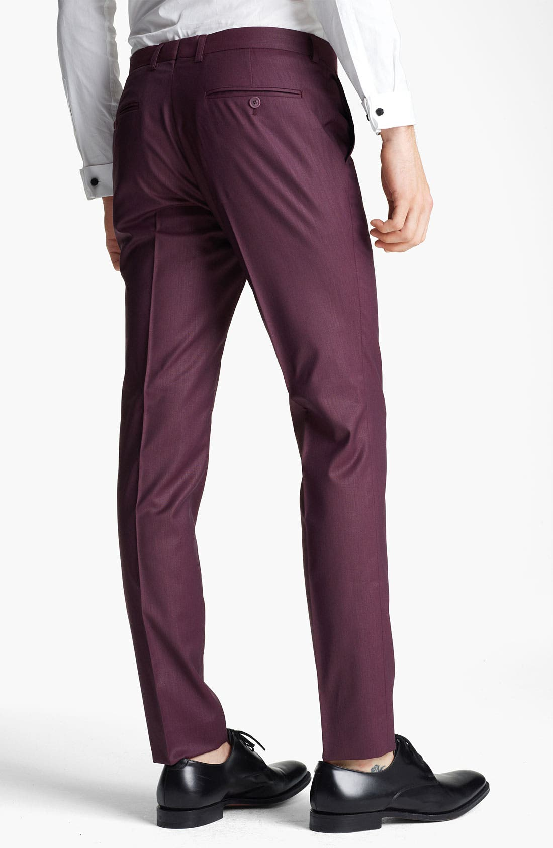 Alternate Image 2  - Topman 'Liquid' Skinny Trousers