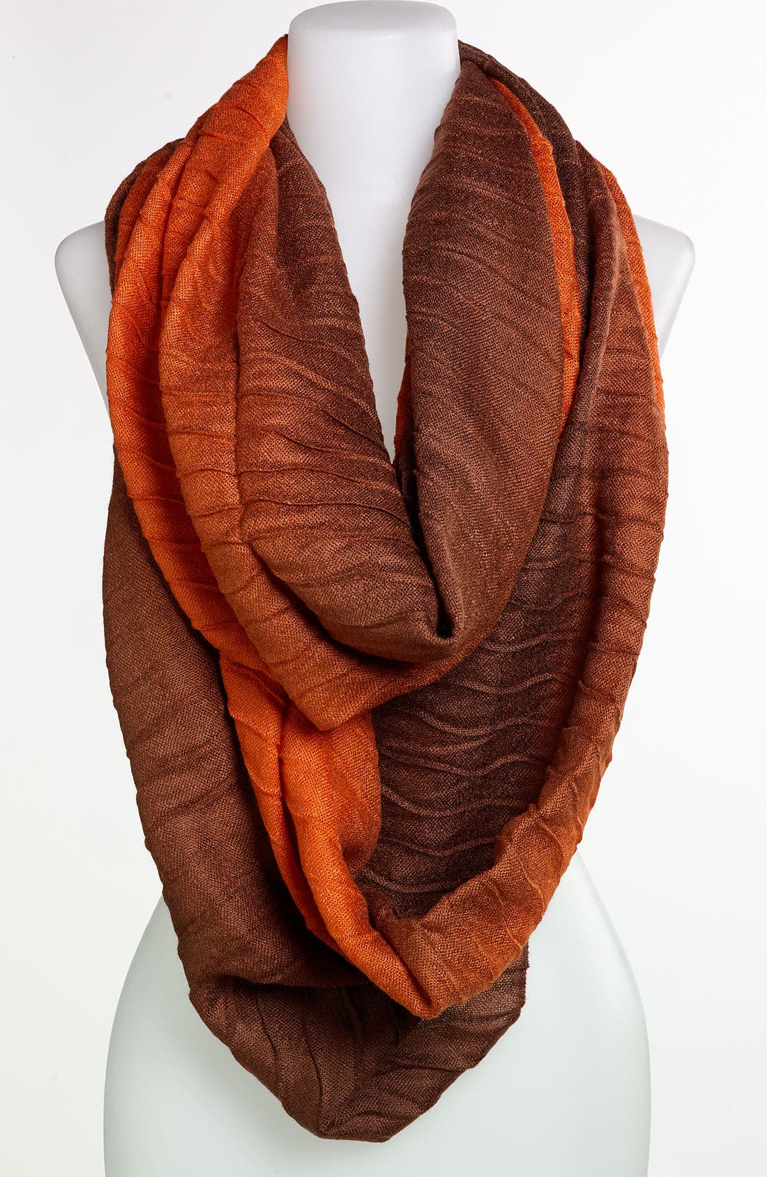 Main Image - Echo 'Ombré Pineapple' Pleated Infinity Scarf