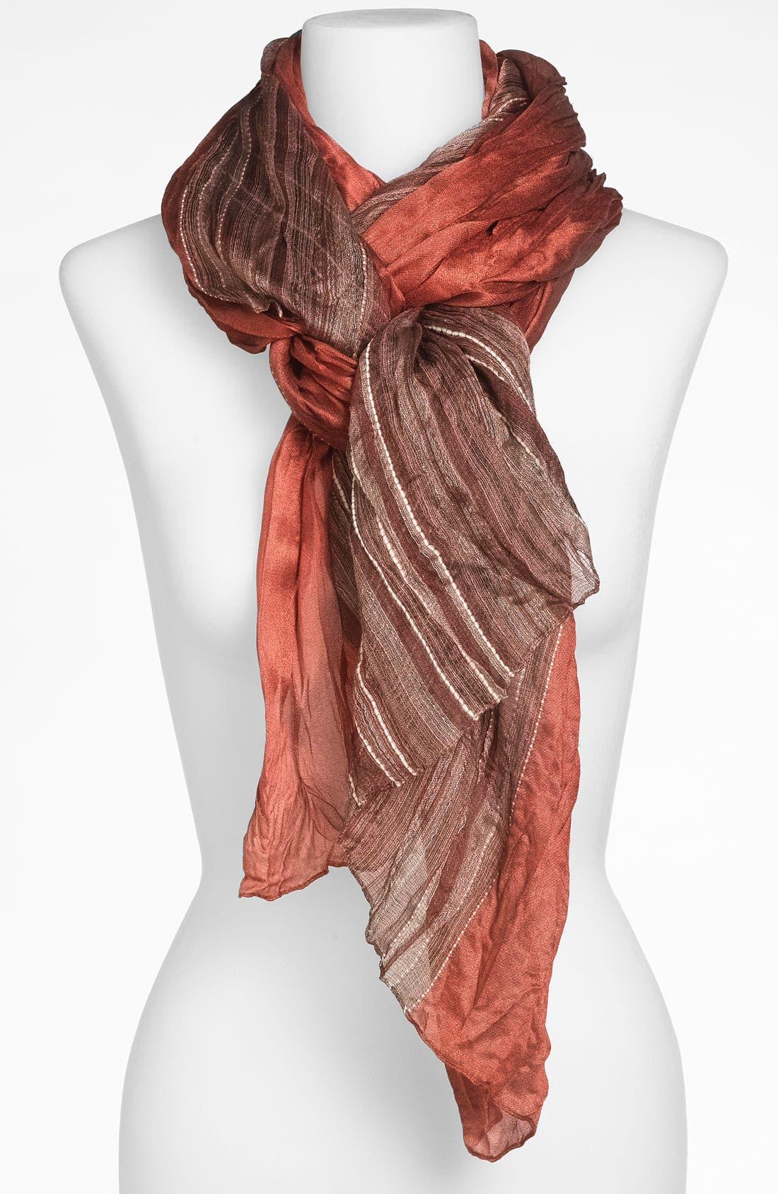 Alternate Image 1 Selected - Tarnish 'Yarn Dye Stripe' Scarf