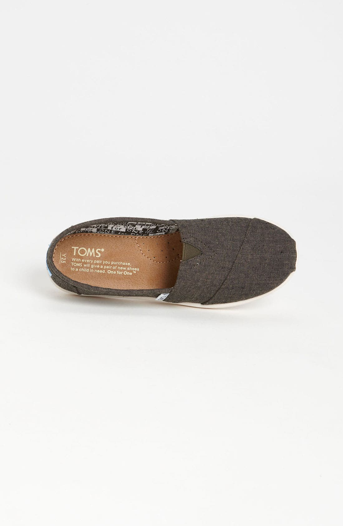Alternate Image 3  - TOMS 'Classic - Youth' Chambray Slip-On (Toddler, Little Kid & Big Kid)