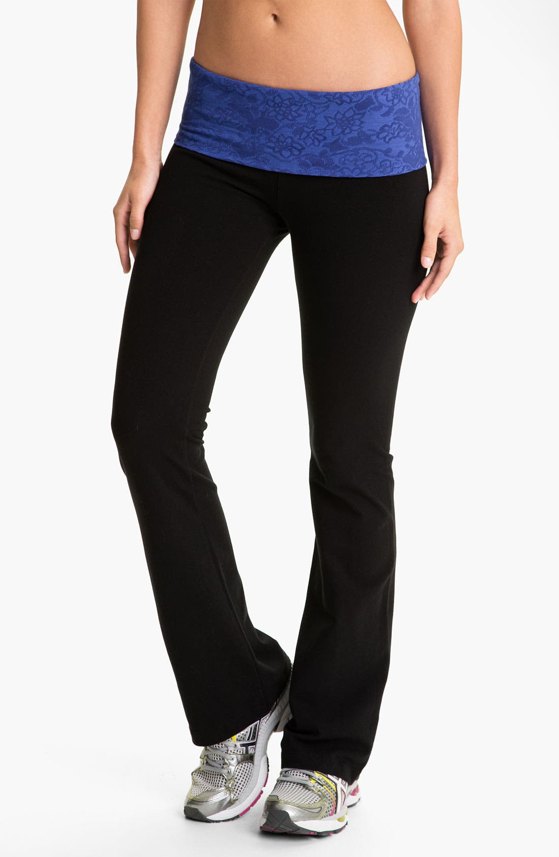 Main Image - Hard Tail Roll Waist Flare Leg Pants