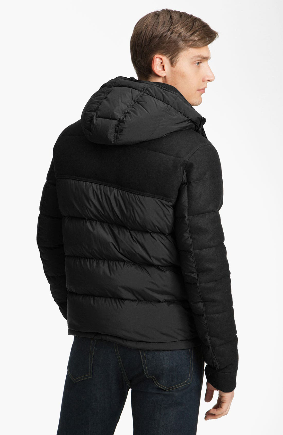 Alternate Image 2  - Moncler Mixed Media Quilted Bomber Jacket
