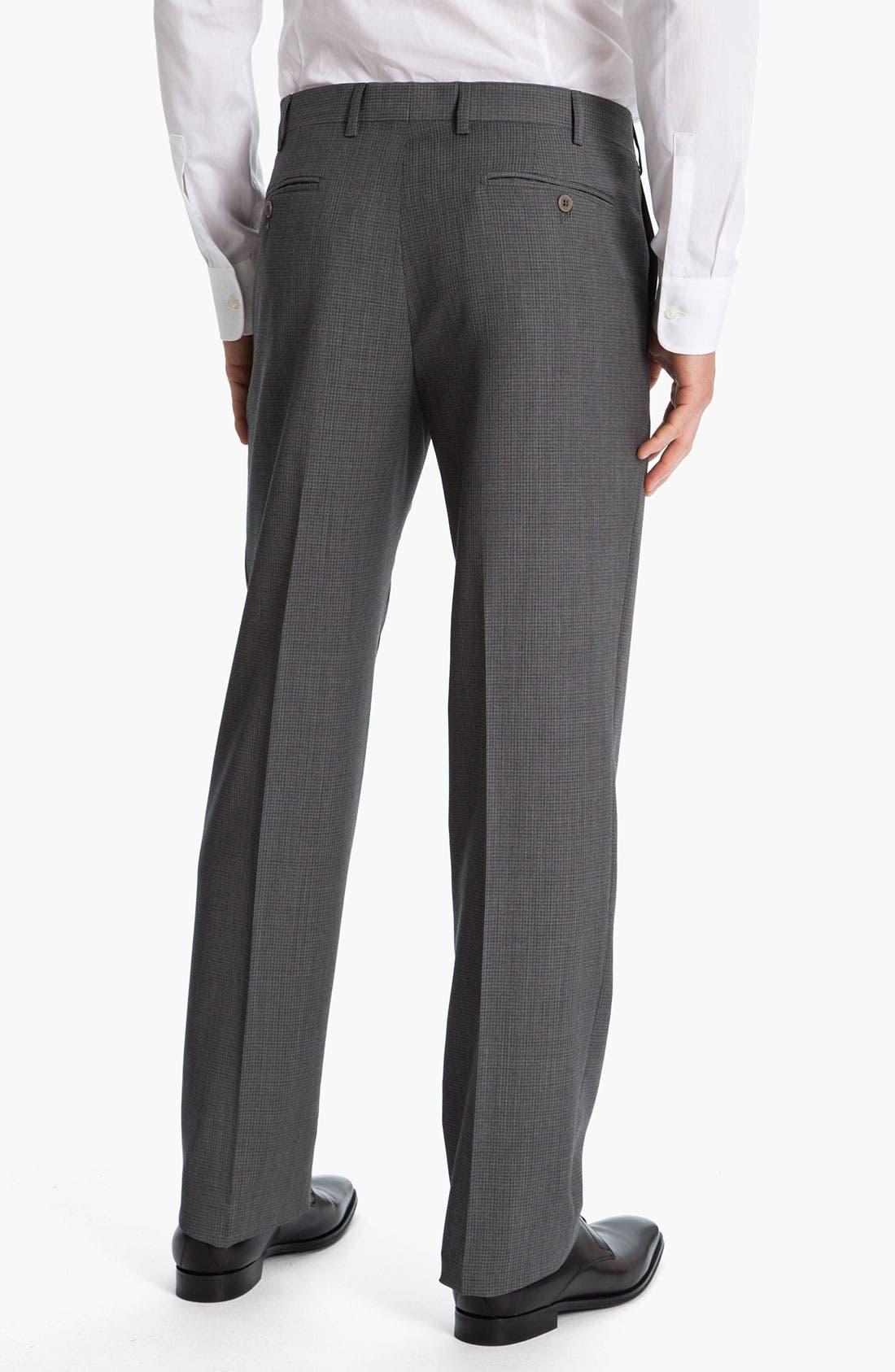 Alternate Image 2  - Zanella 'Todd' Flat Front Check Trousers