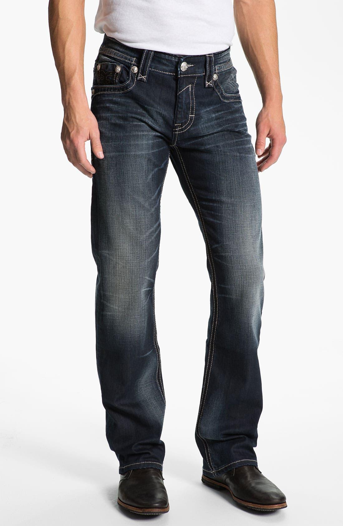 Alternate Image 2  - Rock Revival 'Allen' Straight Leg Jeans (Dark Blue)