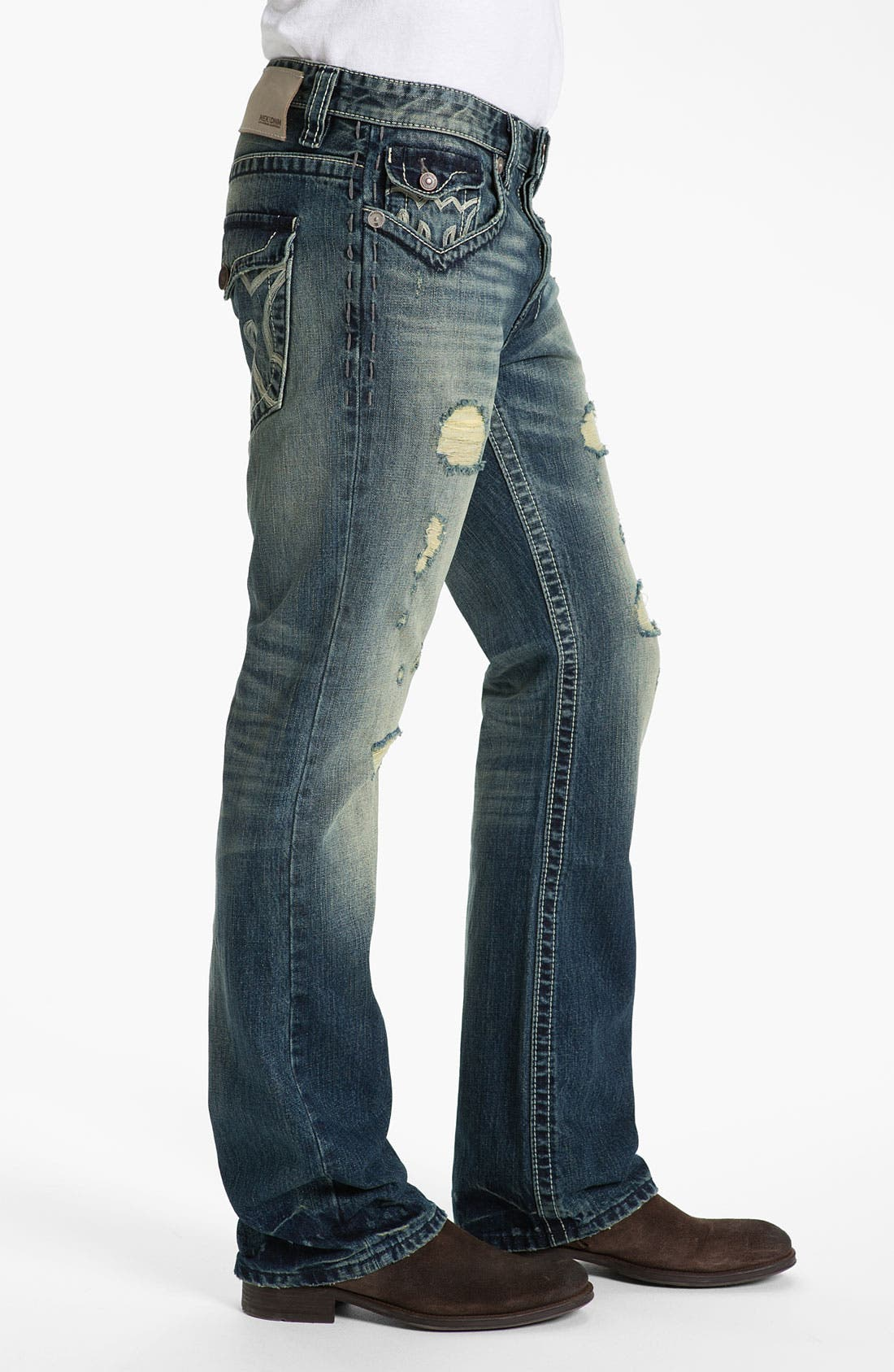 Alternate Image 3  - MEK Denim 'Oaxaca' Slim Bootcut Jeans (Medium Blue)