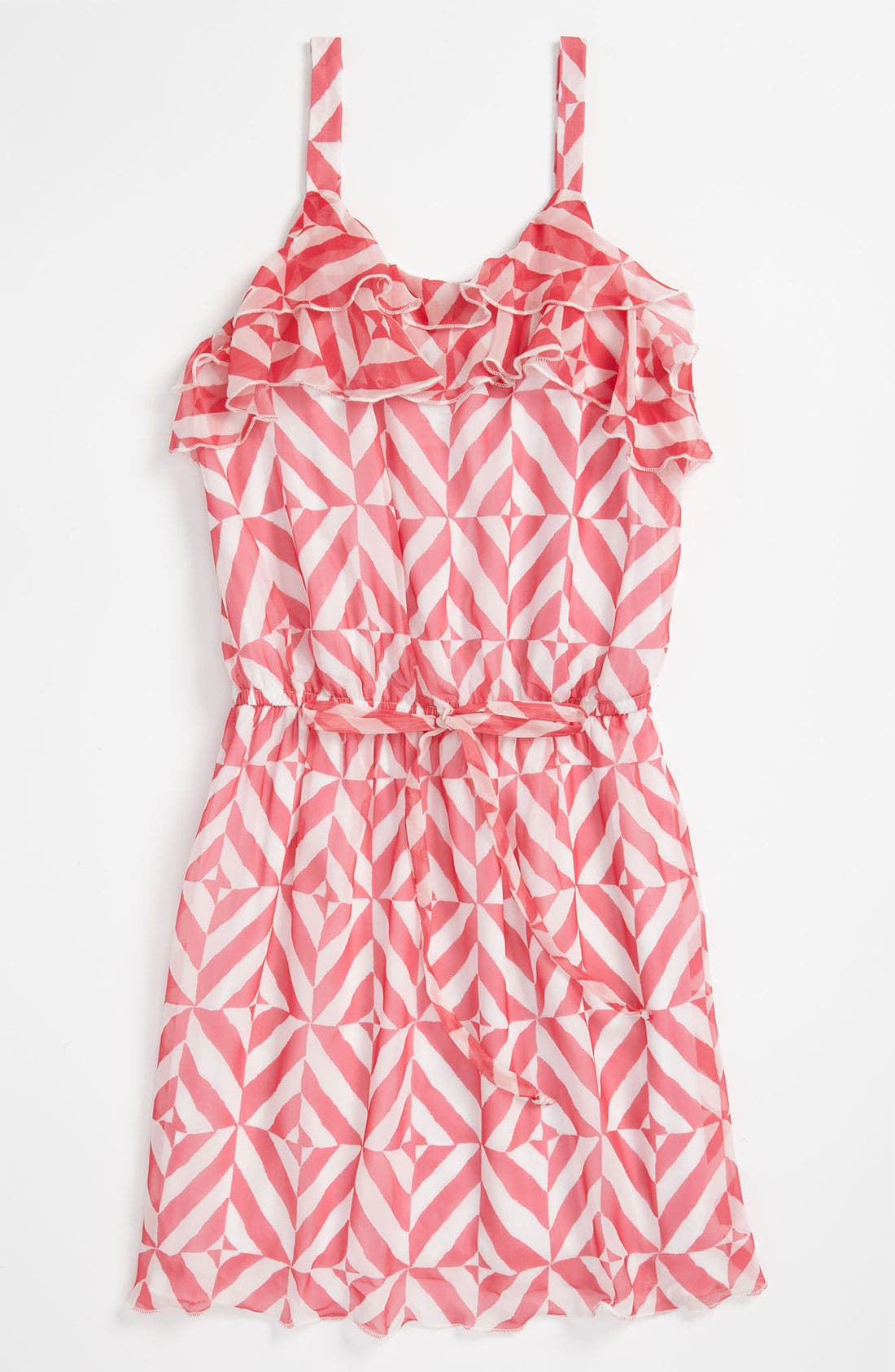 Alternate Image 1 Selected - Elisa B Chiffon Print Dress (Big Girls)