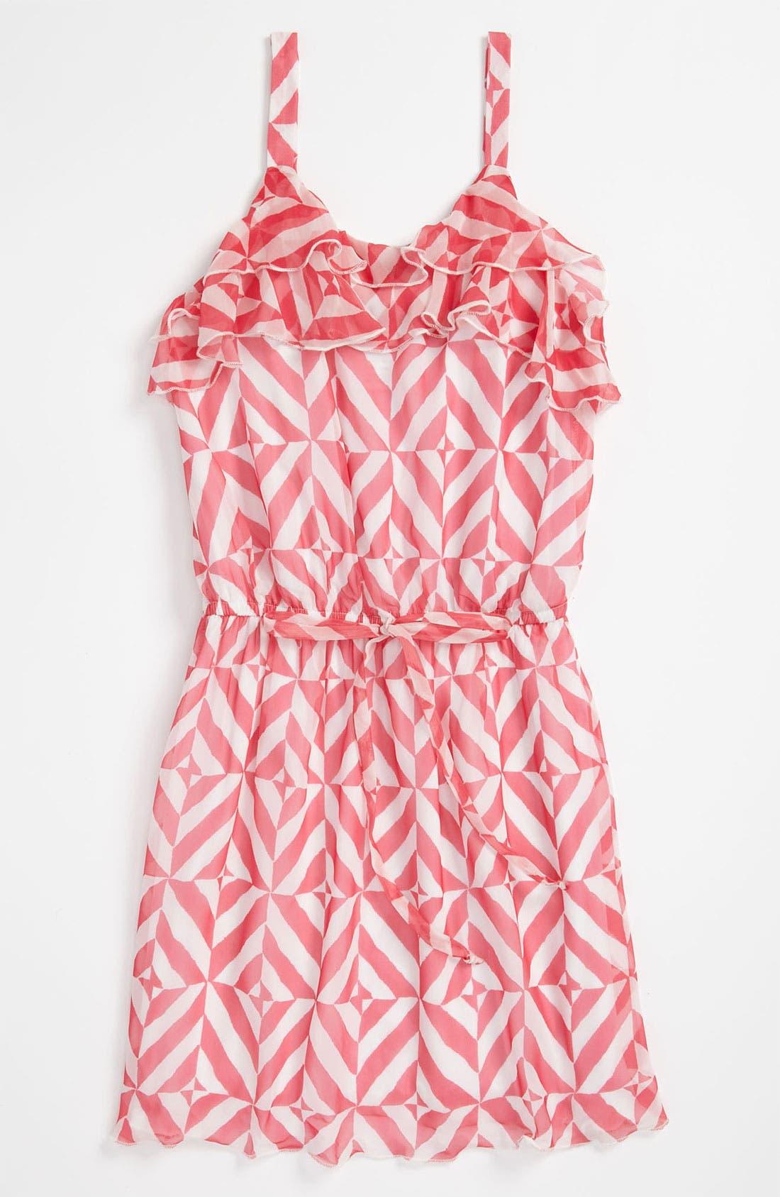 Main Image - Elisa B Chiffon Print Dress (Big Girls)