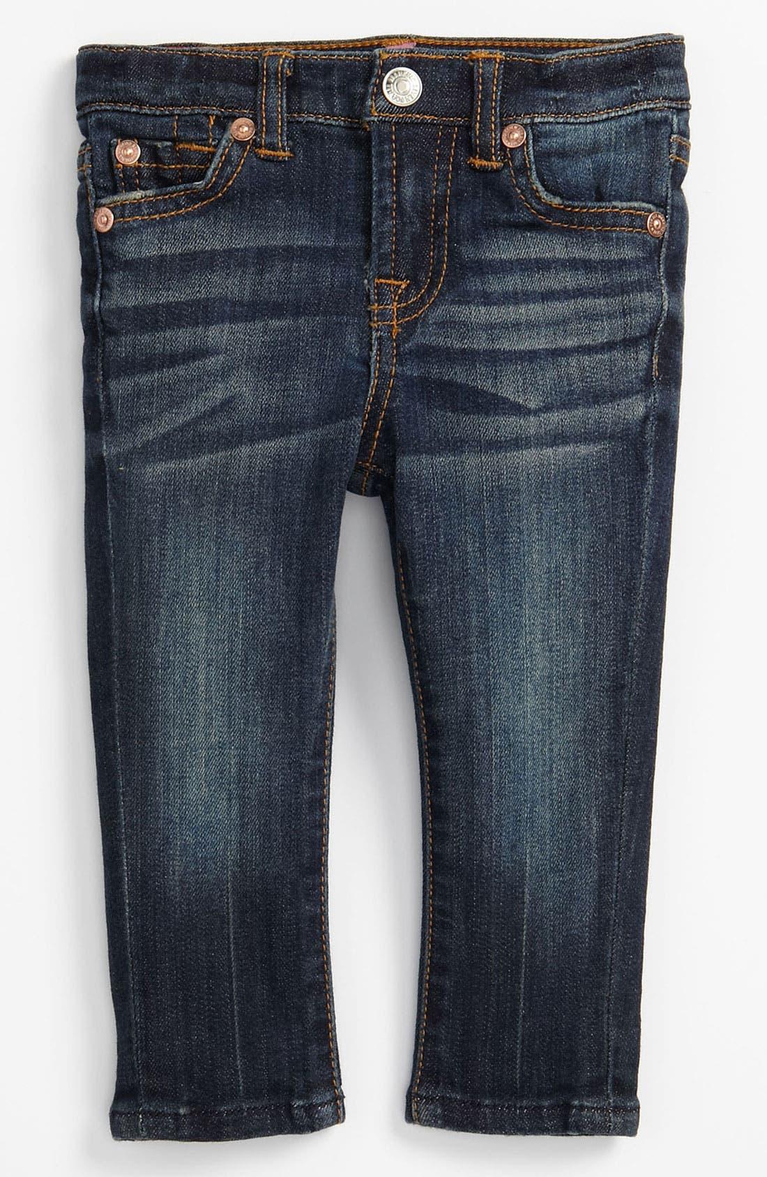 Alternate Image 2  - 7 For All Mankind® 'Roxanne' Skinny Jeans (Infant)
