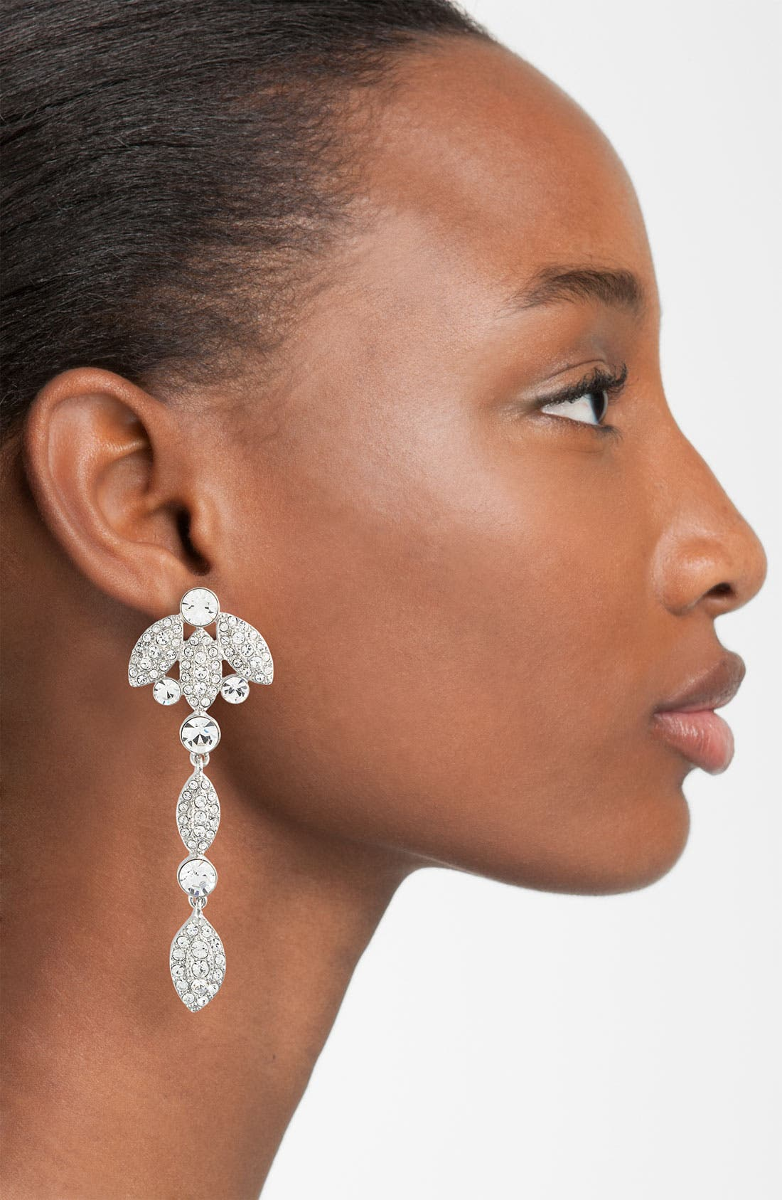 Alternate Image 2  - Givenchy 'Femme - Kelly' Crystal Linear Earrings