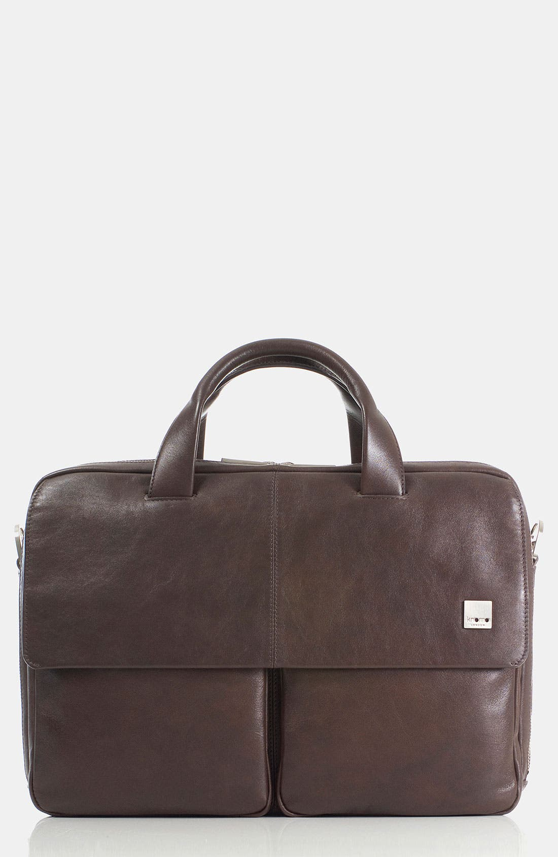 Alternate Image 2  - KNOMO London 'Warwick' Double Compartment Leather Briefcase