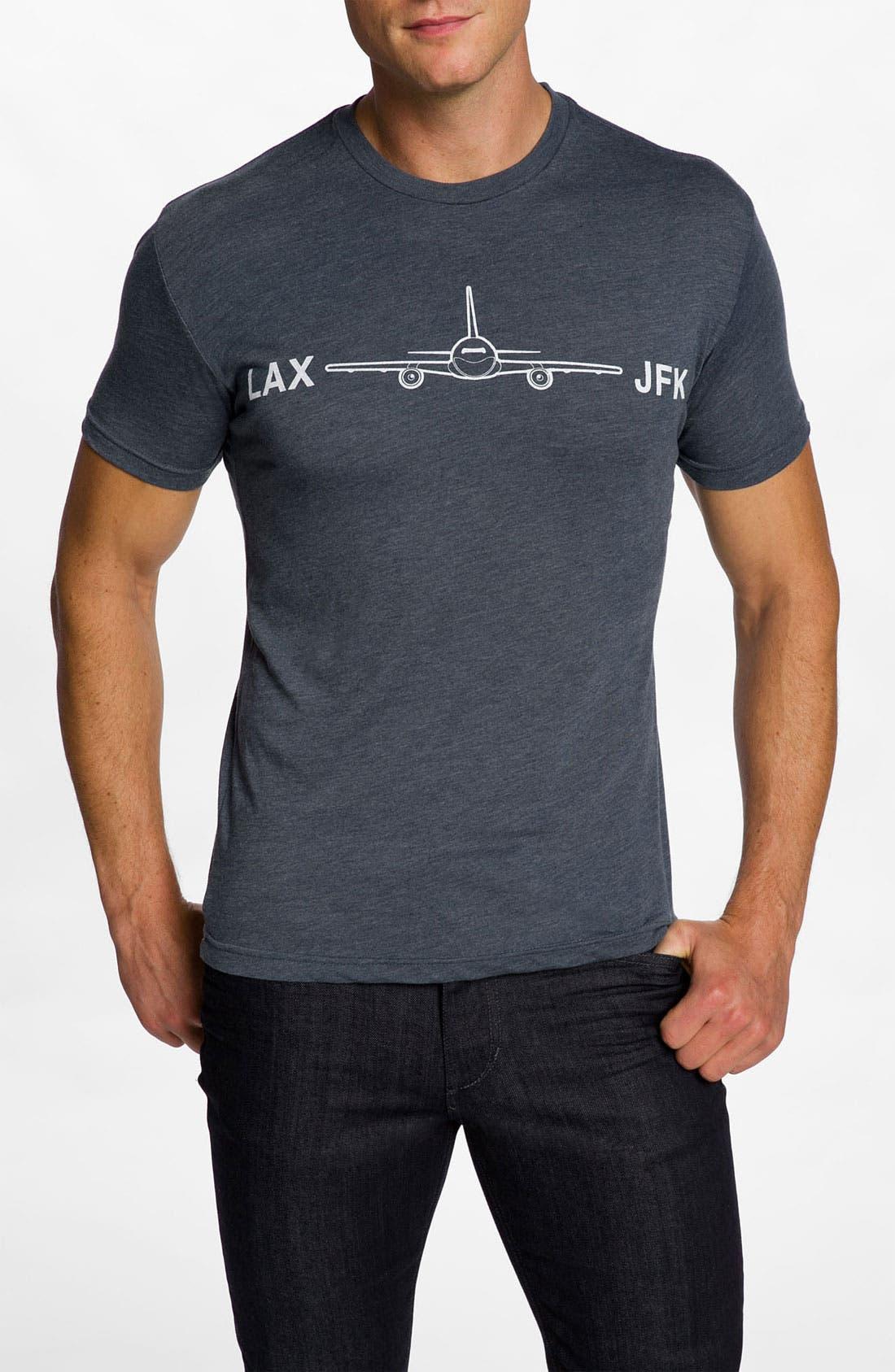 Alternate Image 1 Selected - DiLascia 'LAX - JFK' T-Shirt