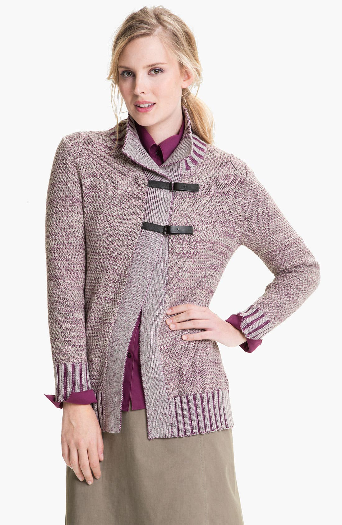 Main Image - Lafayette 148 New York Tab Closure Sweater