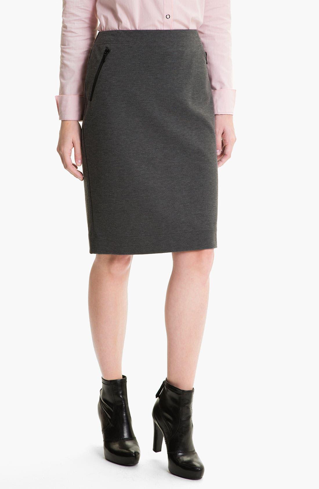 Alternate Image 1 Selected - Lafayette 148 New York Heather Ponte Skirt