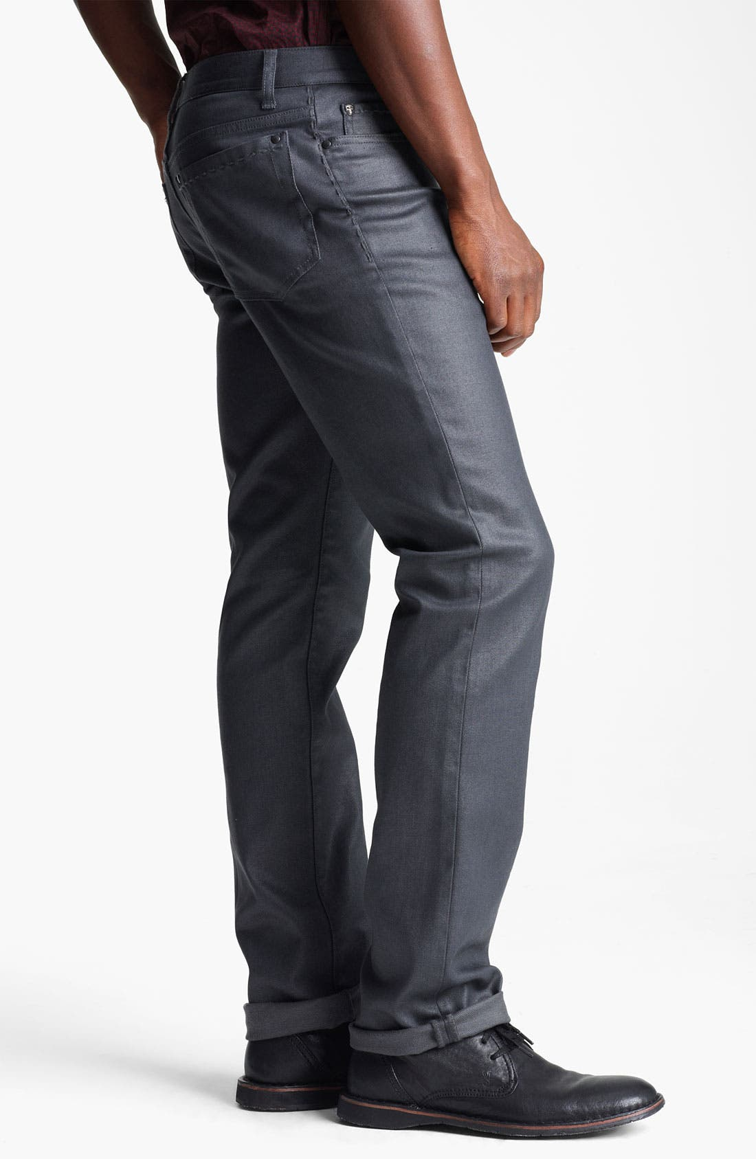 Alternate Image 3  - John Varvatos Collection Slim Fit Jeans (Metal Grey)