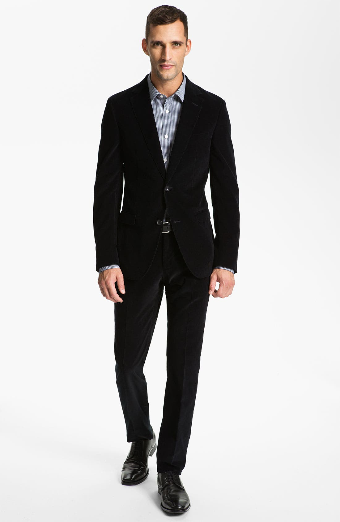 Alternate Image 2  - Z Zegna Extra Trim Fit Corduroy Suit