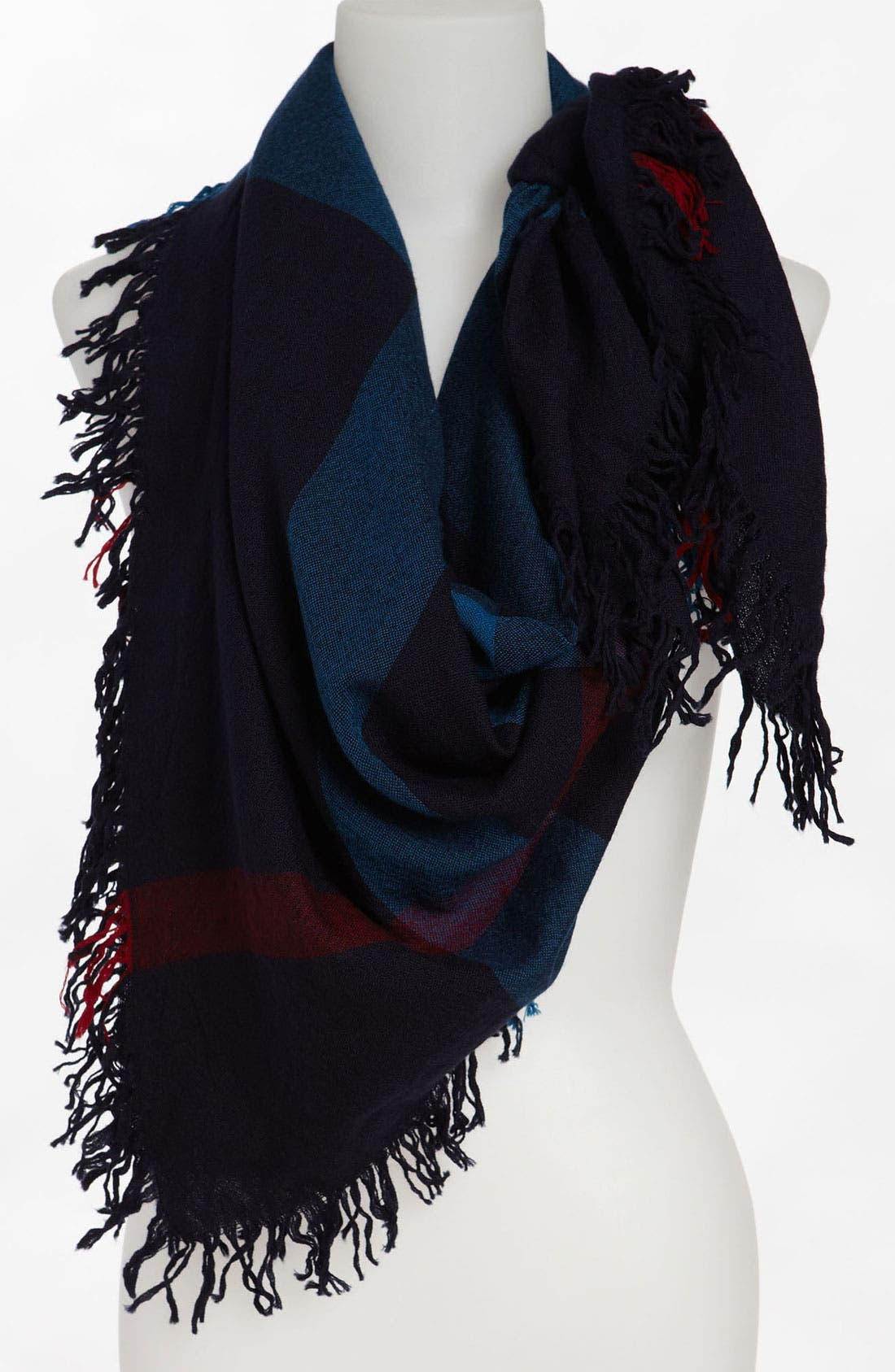 Main Image - Burberry Check Merino Wool Scarf