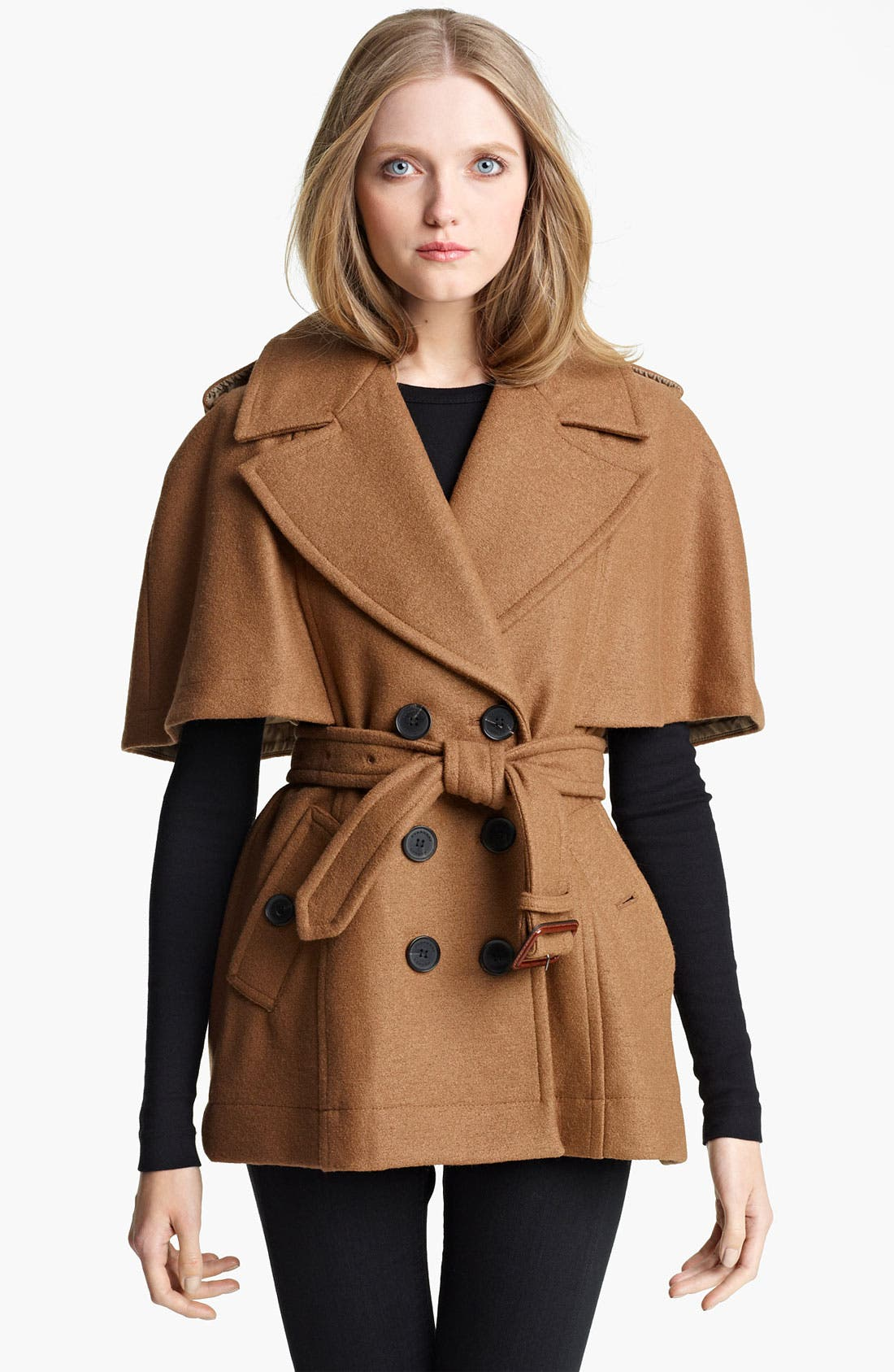 Alternate Image 1 Selected - Burberry London Double Breasted Cape Coat