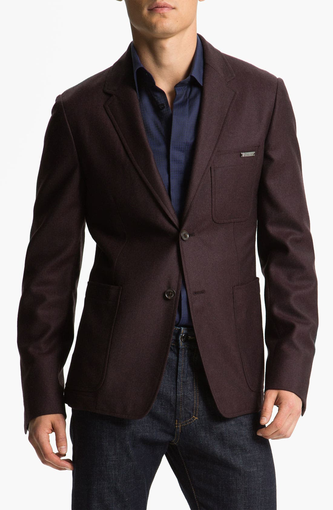 Main Image - Versace Trim Fit Wool Blazer