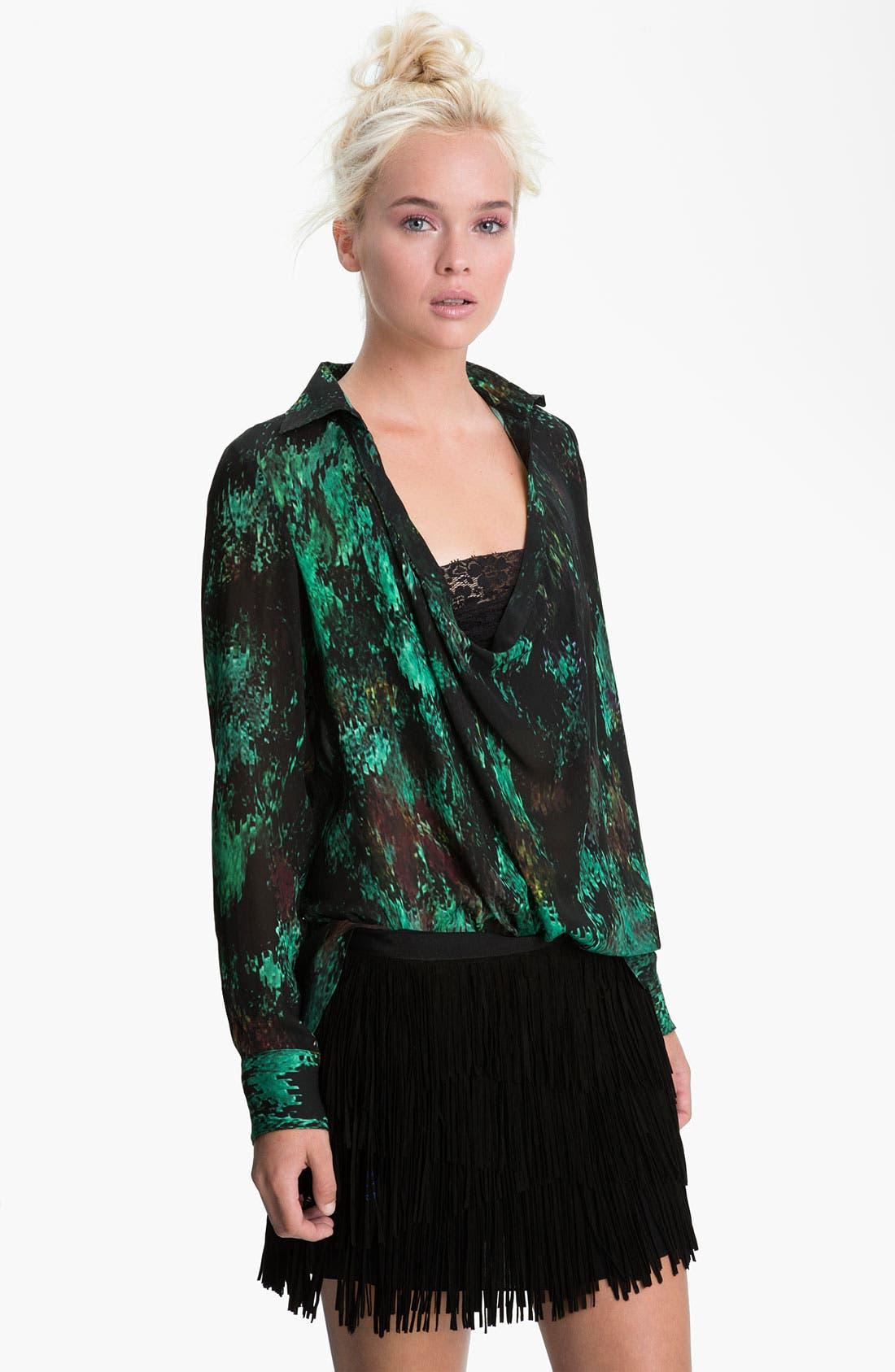 Alternate Image 1 Selected - Haute Hippie 'Everything Gone Green' Blouse