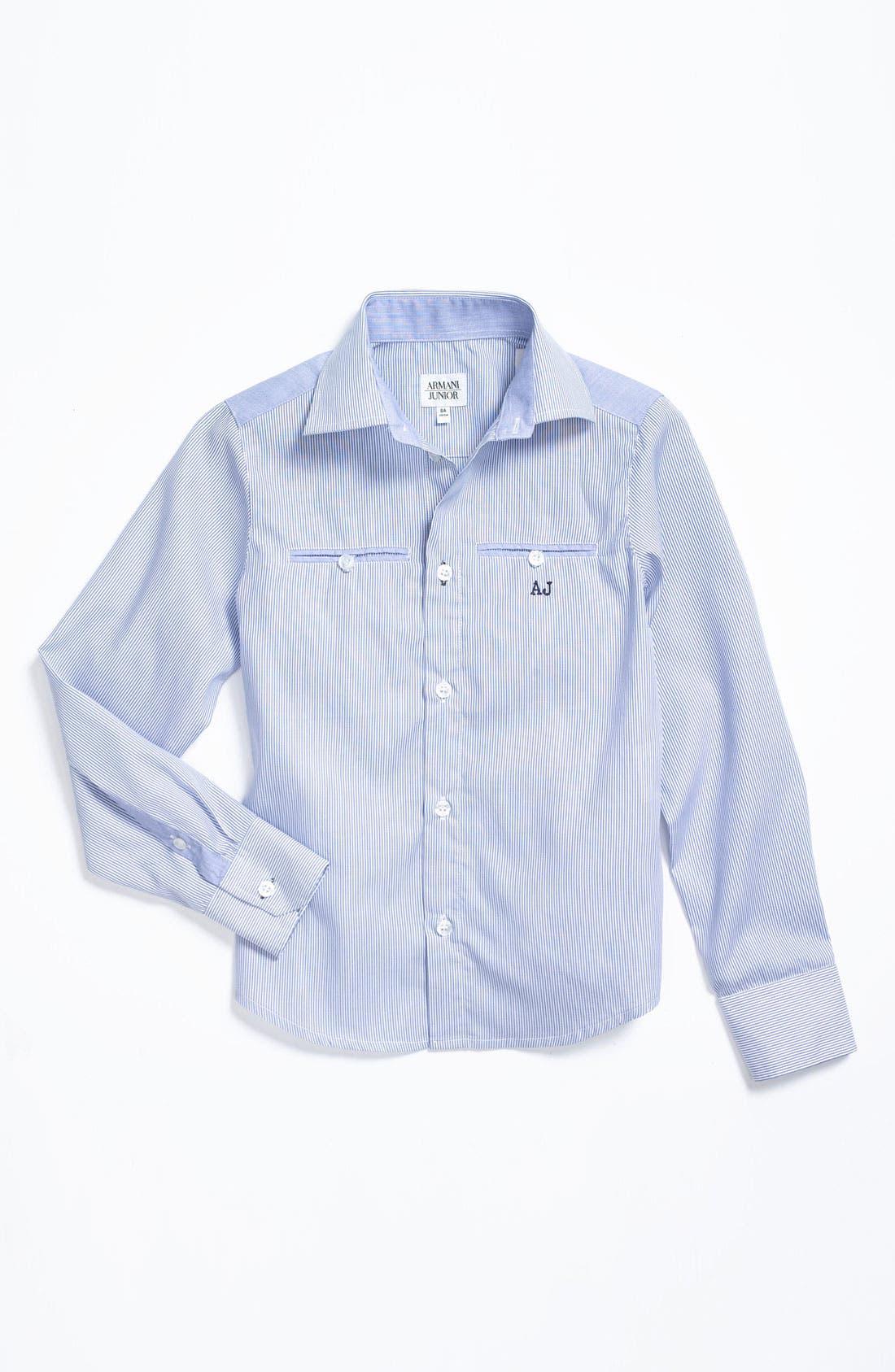 Main Image - Armani Junior Dress Shirt (Big Boys)