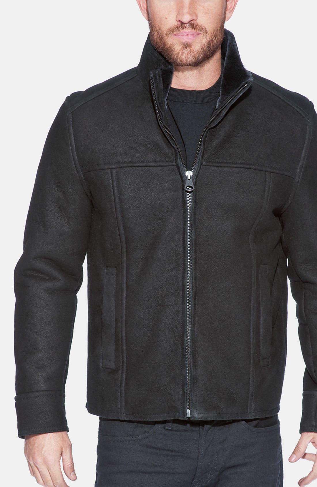 Alternate Image 1 Selected - Andrew Marc 'Oath' Genuine Shearling Jacket