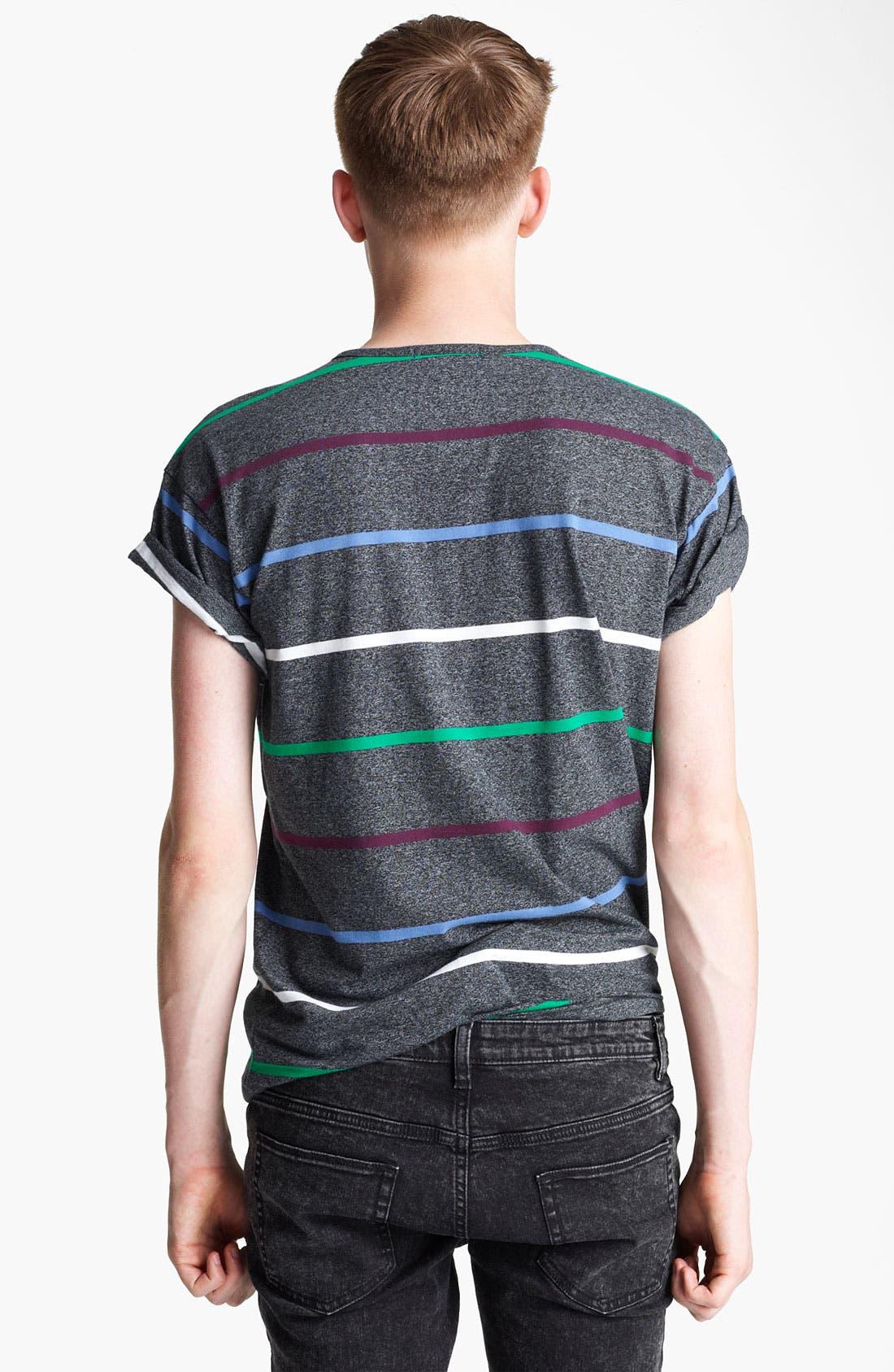 Alternate Image 2  - Topman 'High Roller' Stripe T-Shirt
