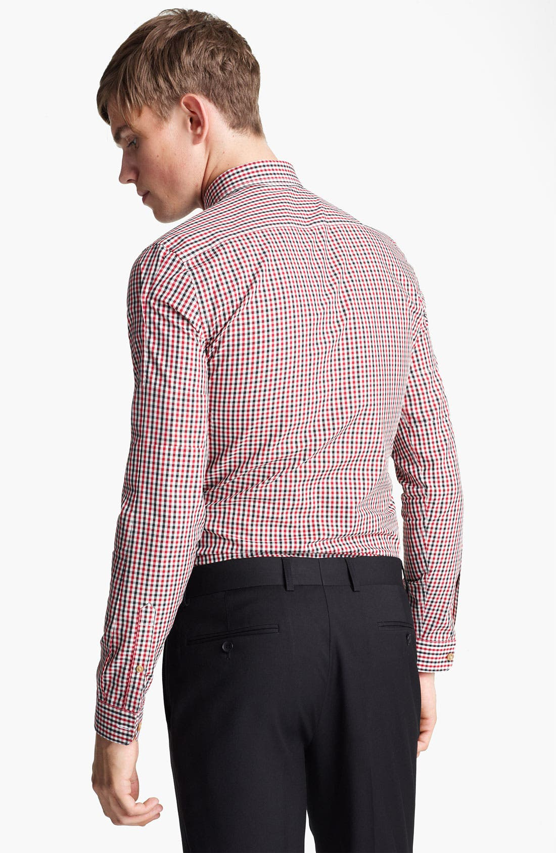 Alternate Image 2  - Topman 'Smart' Check Dress Shirt