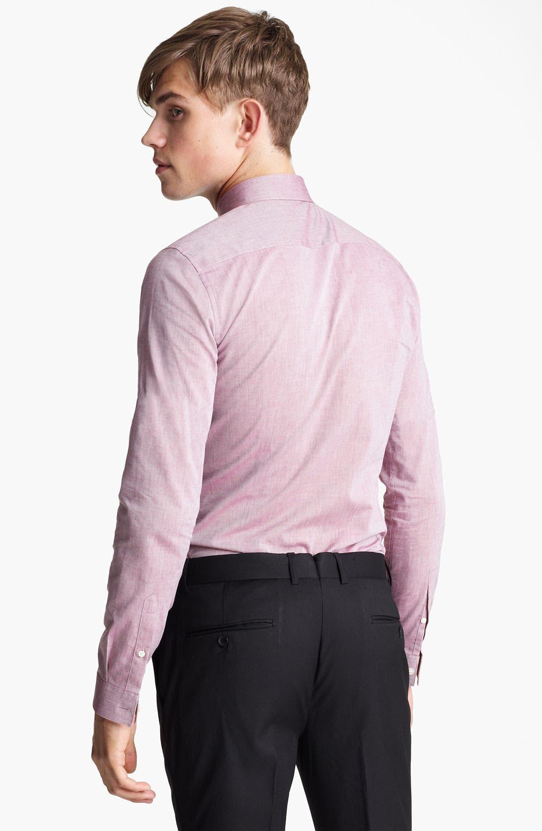 Alternate Image 2  - Topman Chambray Extra Trim Woven Dress Shirt