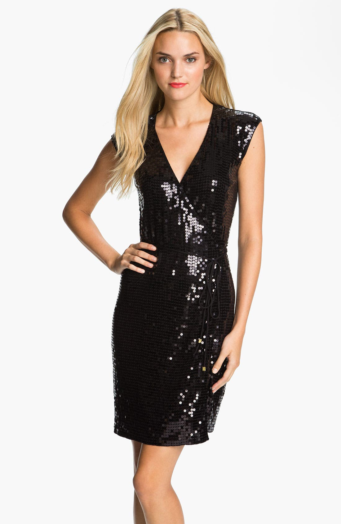 Main Image - MICHAEL Michael Kors Sequin Wrap Dress