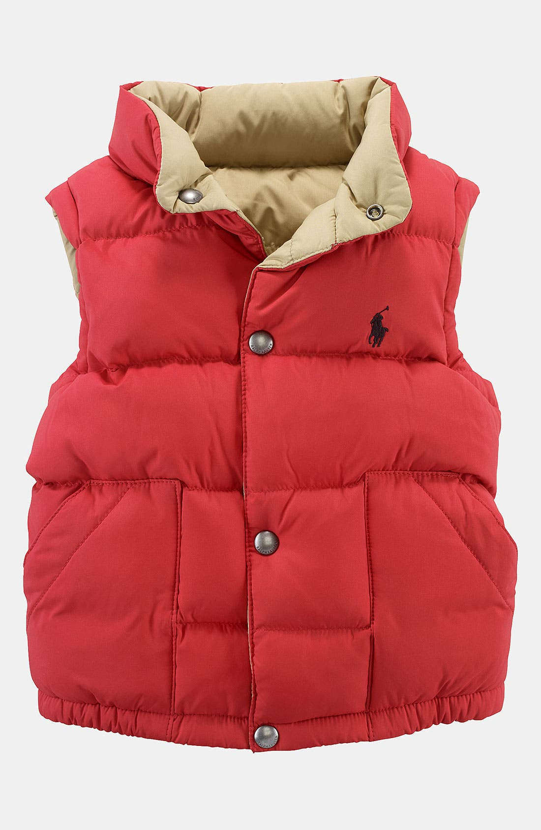 Alternate Image 1 Selected - Ralph Lauren Reversible Puffer Vest (Toddler)