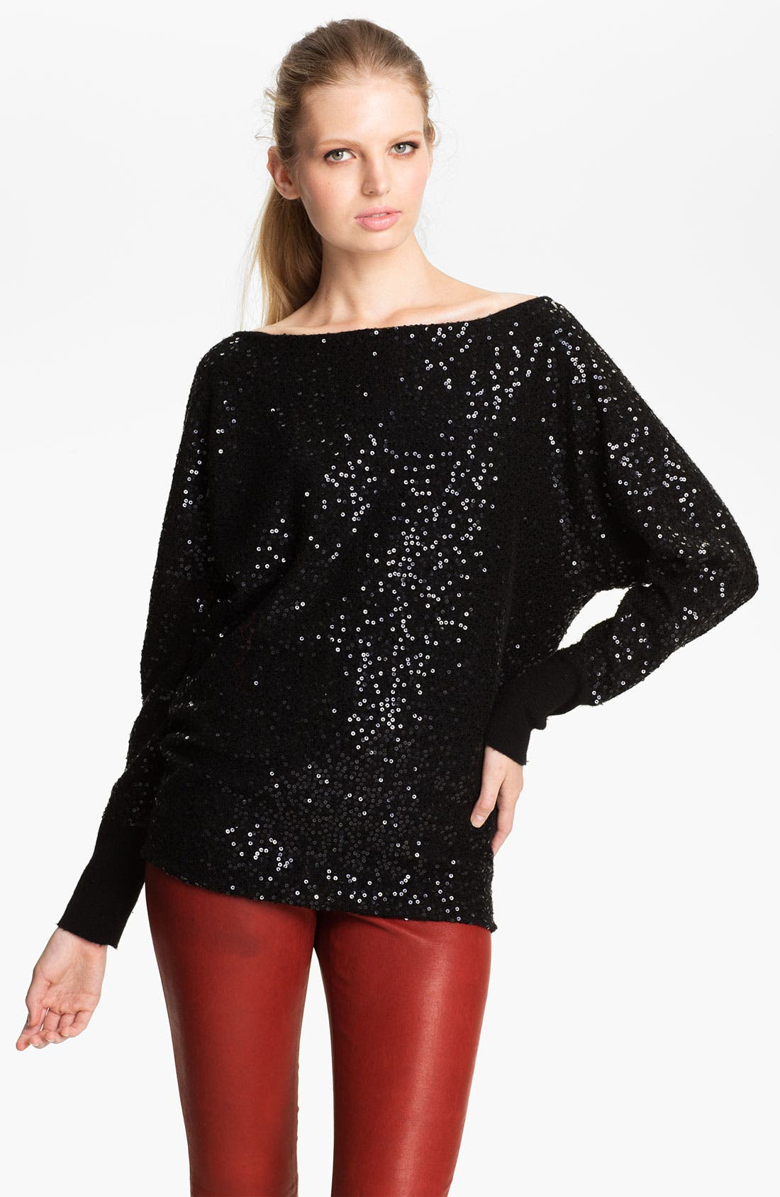 Alternate Image 1 Selected - Alice + Olivia 'Hayley' Slouchy Sequin Top
