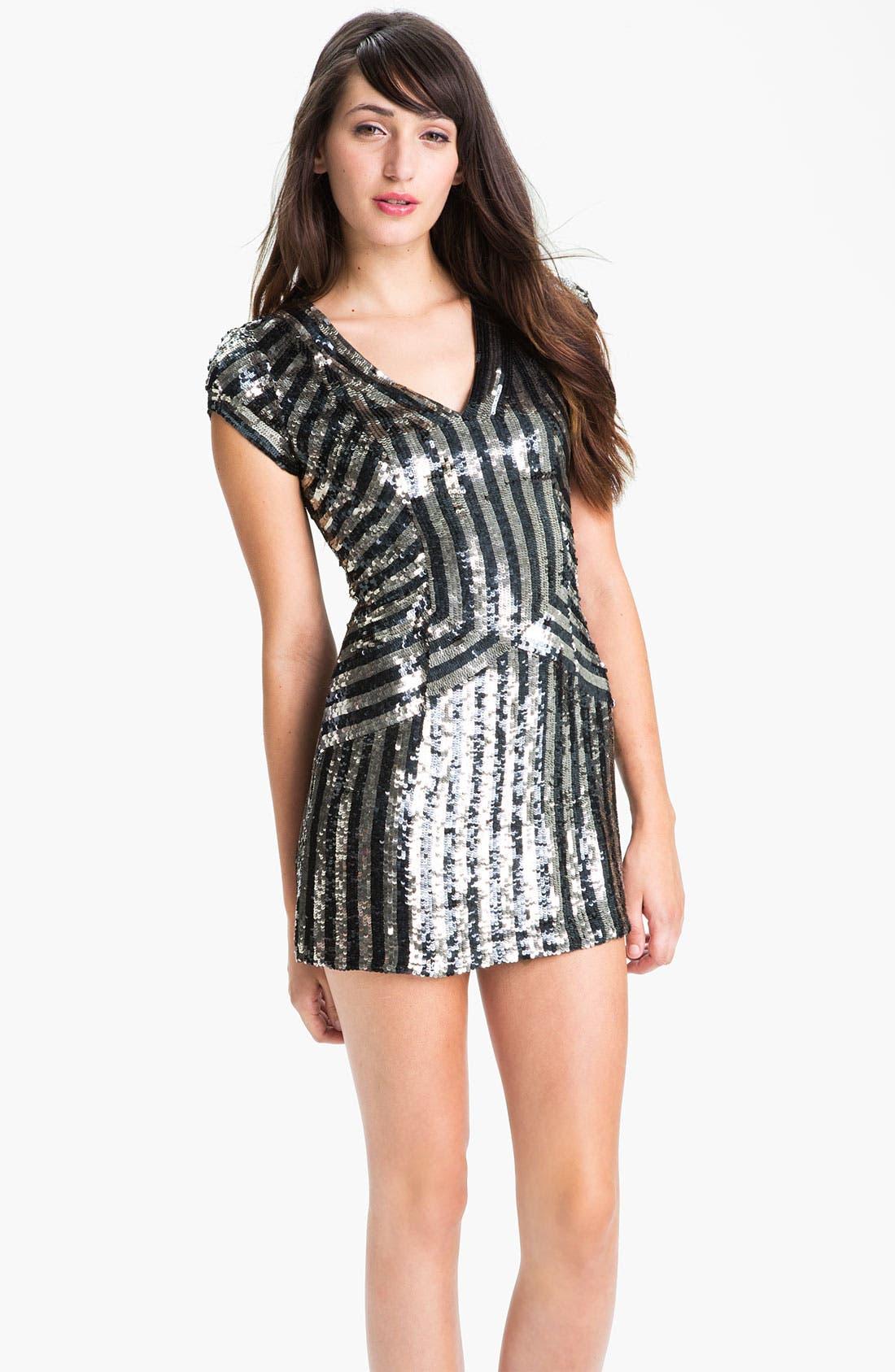 Alternate Image 1  - Parker Stripe Sequin Dress