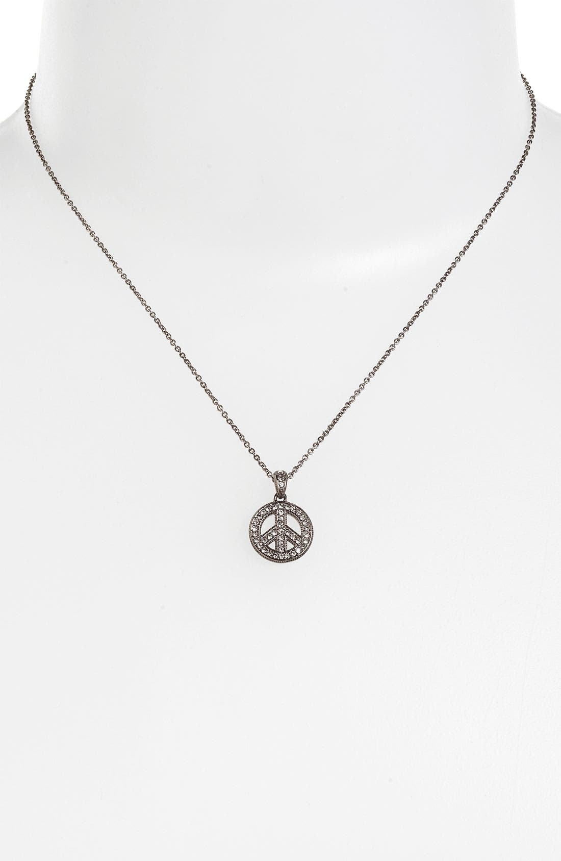 Alternate Image 2  - Nadri 'Peace Sign' Pendant Necklace (Nordstrom Exclusive)