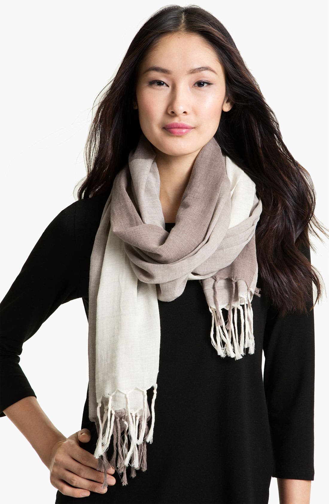 Alternate Image 1 Selected - Eileen Fisher Organic Cotton Scarf