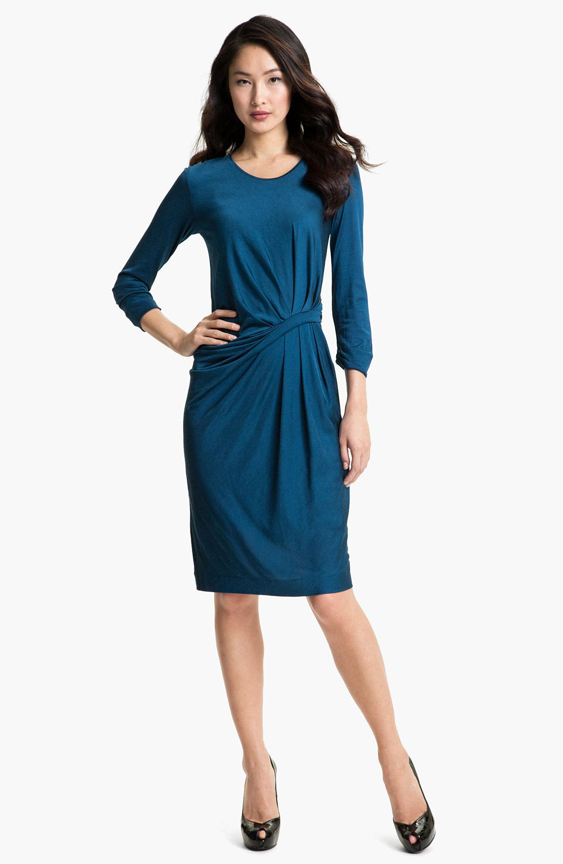 Alternate Image 1  - BOSS Black Pleat Front Dress